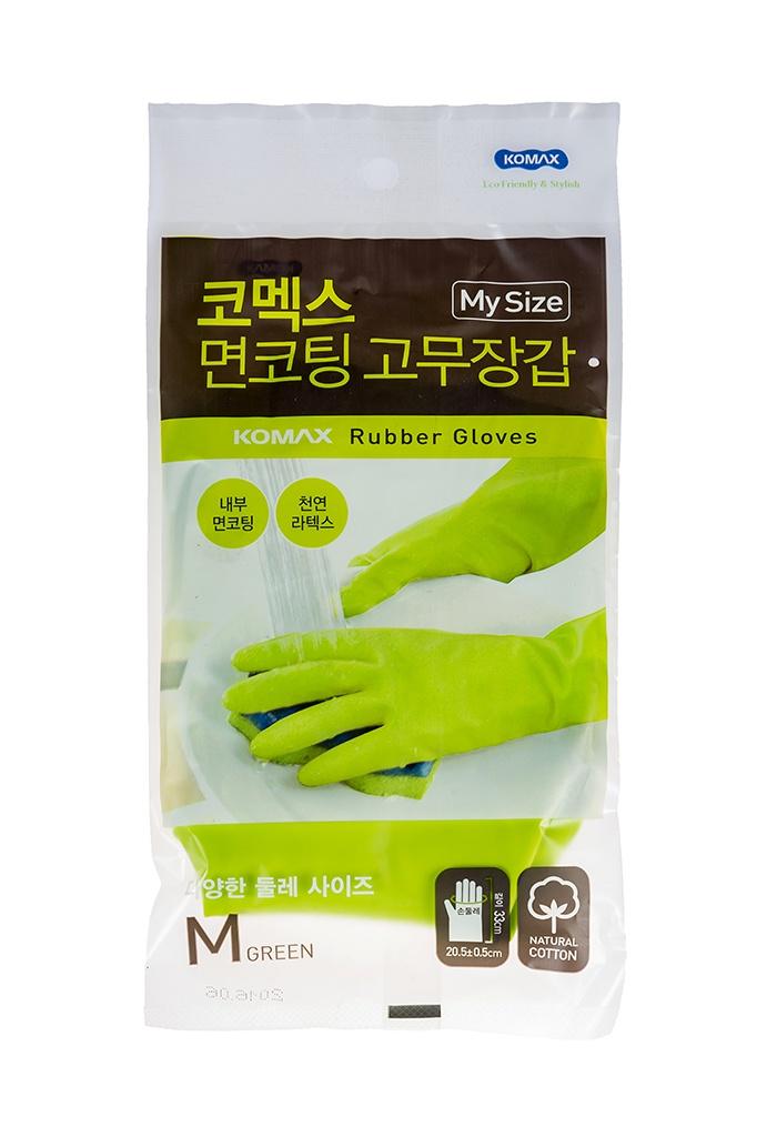 Перчатки хозяйственные KOMAX Clean, зеленый