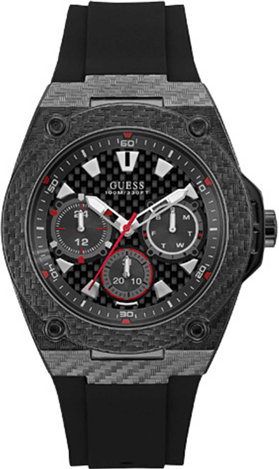 Часы Guess LEGACY, черный al 3602 agility pro с покрытием под карбон