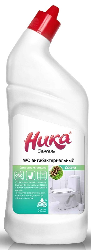 Средство для ванной и туалета НИКА Ника-Сангель WC антибактериальный, 0.7 кг