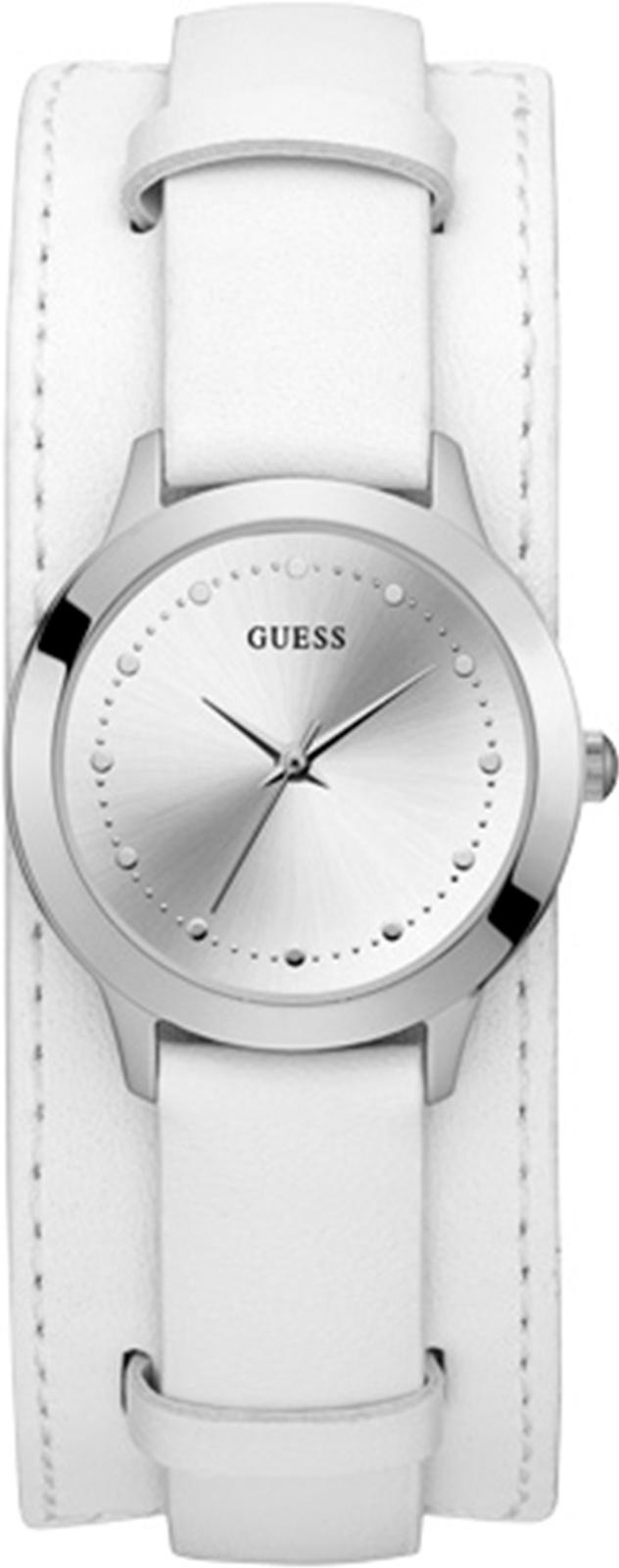 Часы Guess CHELSEA, белый, серебристый цена и фото