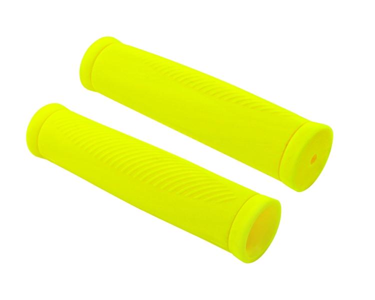 Грипсы Хорс Ручка велосипеда коробка (2 шт) желтая, желтый