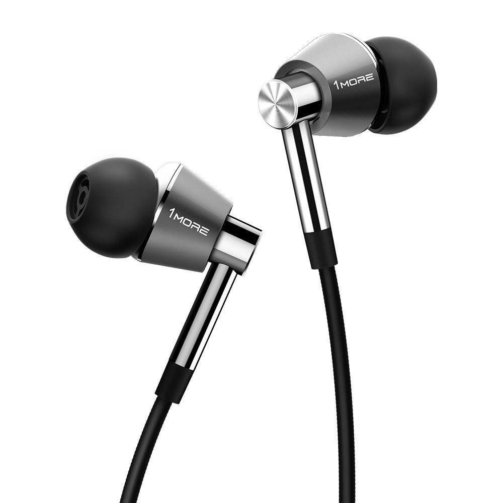 Xiaomi 1MORE E1001 Silver Triple Driver In-Ear Headphones (1MEJE0002) купить недорого в Москве