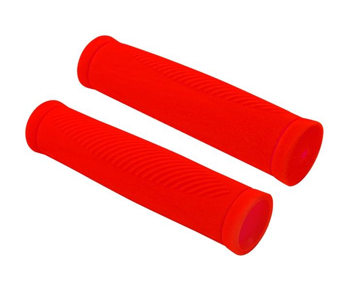 Грипсы Хорс Ручка велосипеда коробка (2 шт) красная фл., красный
