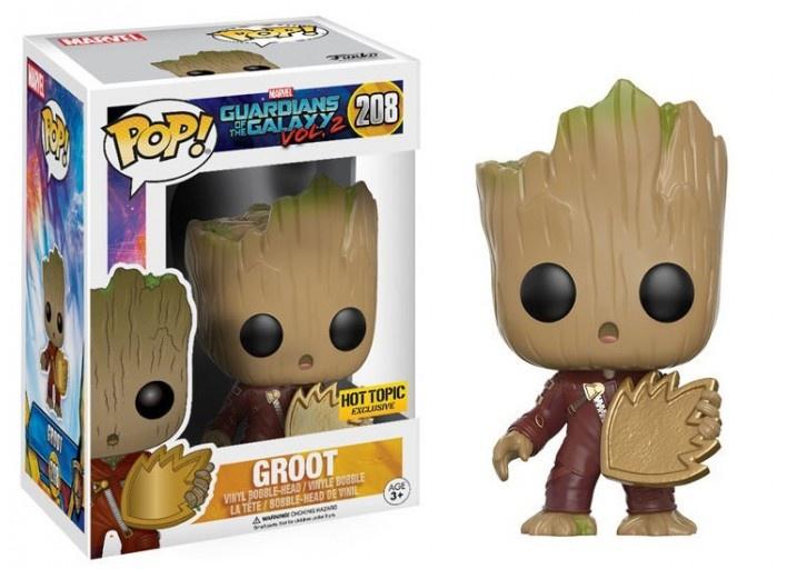 Фигурка Funko Pop Guardians of the Galaxy 2 - Baby Groot With Shield (Маленький Грут с щитом) guardians of the galaxy creating marvel s spacefaring super heroes
