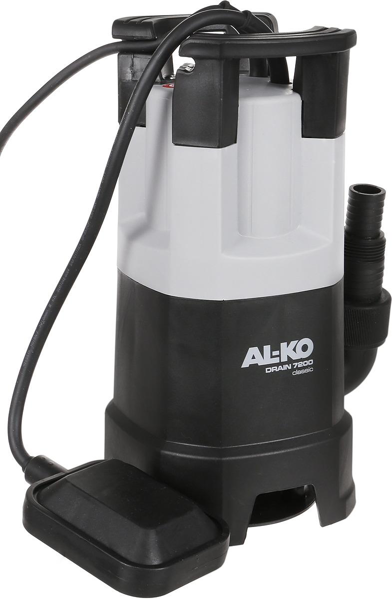 Погружной насос для грязной воды AL-KO Drain 7200 Classic, 113507, серый, черный, красный погружной насос al ko для грязной воды drain 15000 inox