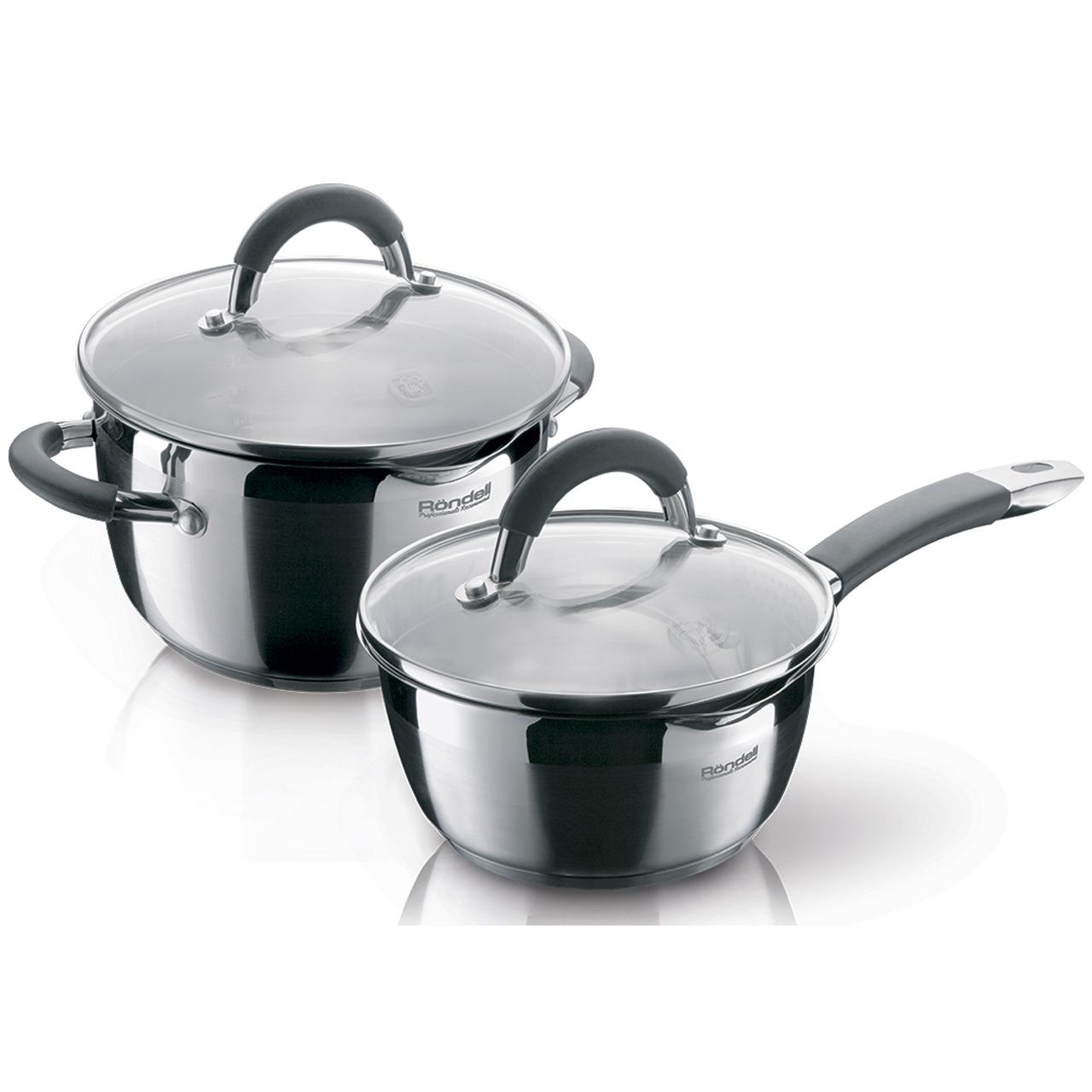 Набор посуды для приготовления Rondell Flamme 4 предметов RDS-340 набор посуды hoffberg 17 предметов цвет белый 1729hff