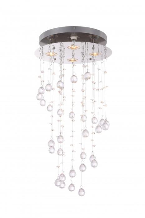 Потолочный светильник Globo New 68595-4, серый металлик цена