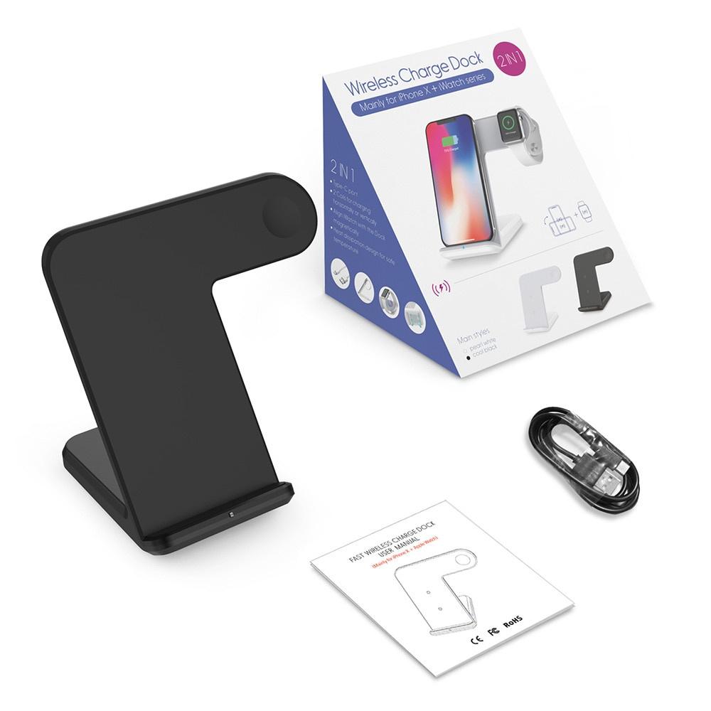 Беспроводное зарядное устройство ZUP Wireless Charge Dock 2 в 1, черный стоимость
