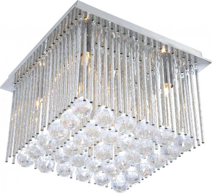 Потолочный светильник Globo New 68348-6, серый металлик chk 213фоторамка панно хай тек на 6 фото