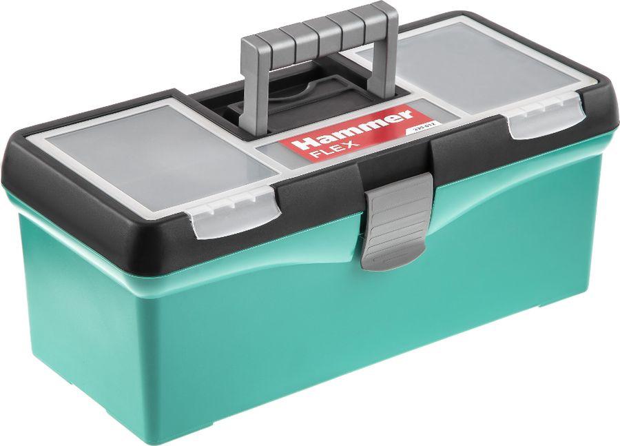 Ящик для инструментов Hammer Flex 15, 235-012, светло-зеленый, 38 х 17,5 х 15,5 см сумка hammer flex 235 005 органайзер 610х340х310мм