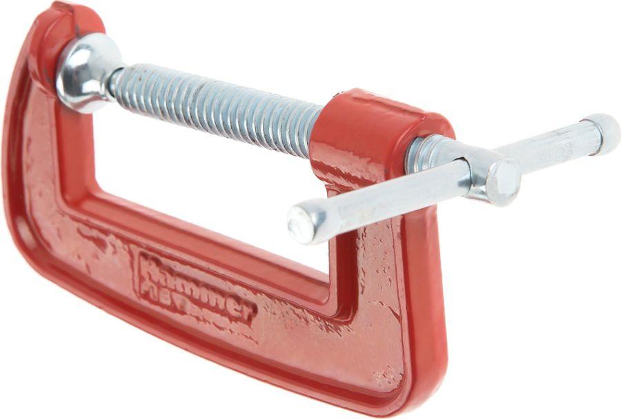 цена на Струбцина Hammer Flex, G-образная, 601-052, красный, серый