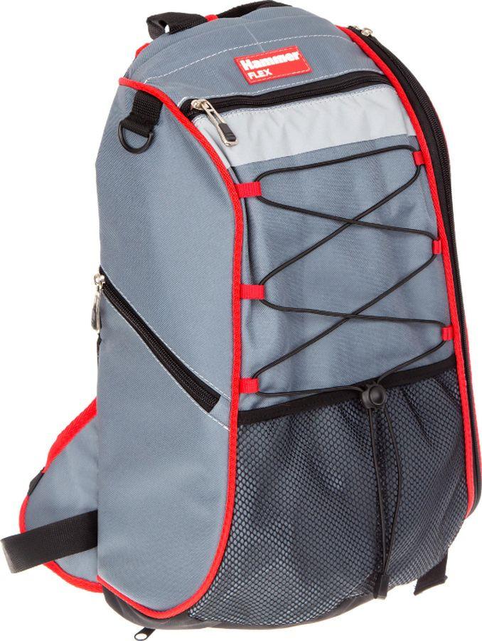 Рюкзак для инструментов Hammer Flex, 235-028, 41 х 52 х 11 см рюкзак hammer flex 235 028 для пилы ушм 410х520х110мм