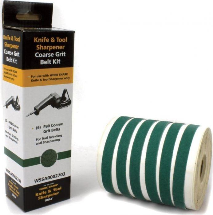 цена на Набор абразивных ремней Work Sharp WSKTS, R36175 , зеленый, 6 шт