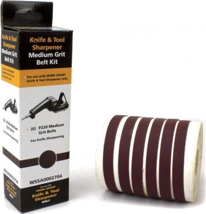 цена на Набор абразивных ремней Work Sharp WSKTS, R36603 , шоколадный, 6 шт