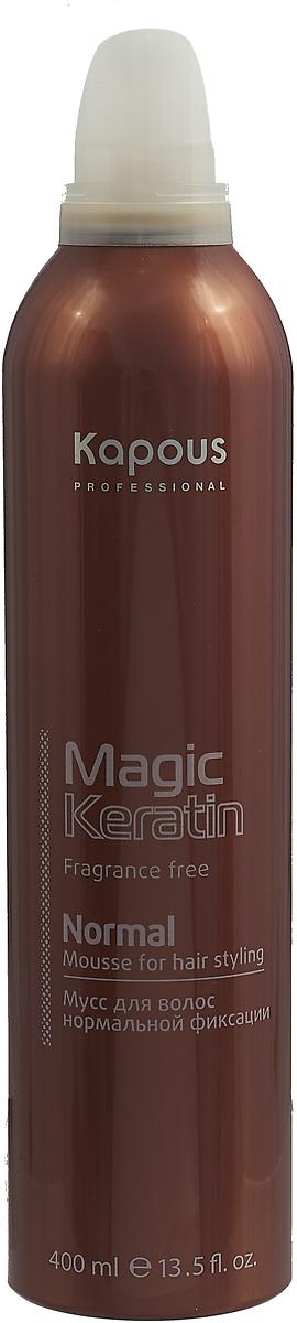 Мусс для волос Kapous Professional Fragrance Free Magic Keratin, средняя фиксация, 400 мл menard embellir night cream n fragrance free объем 35 мл
