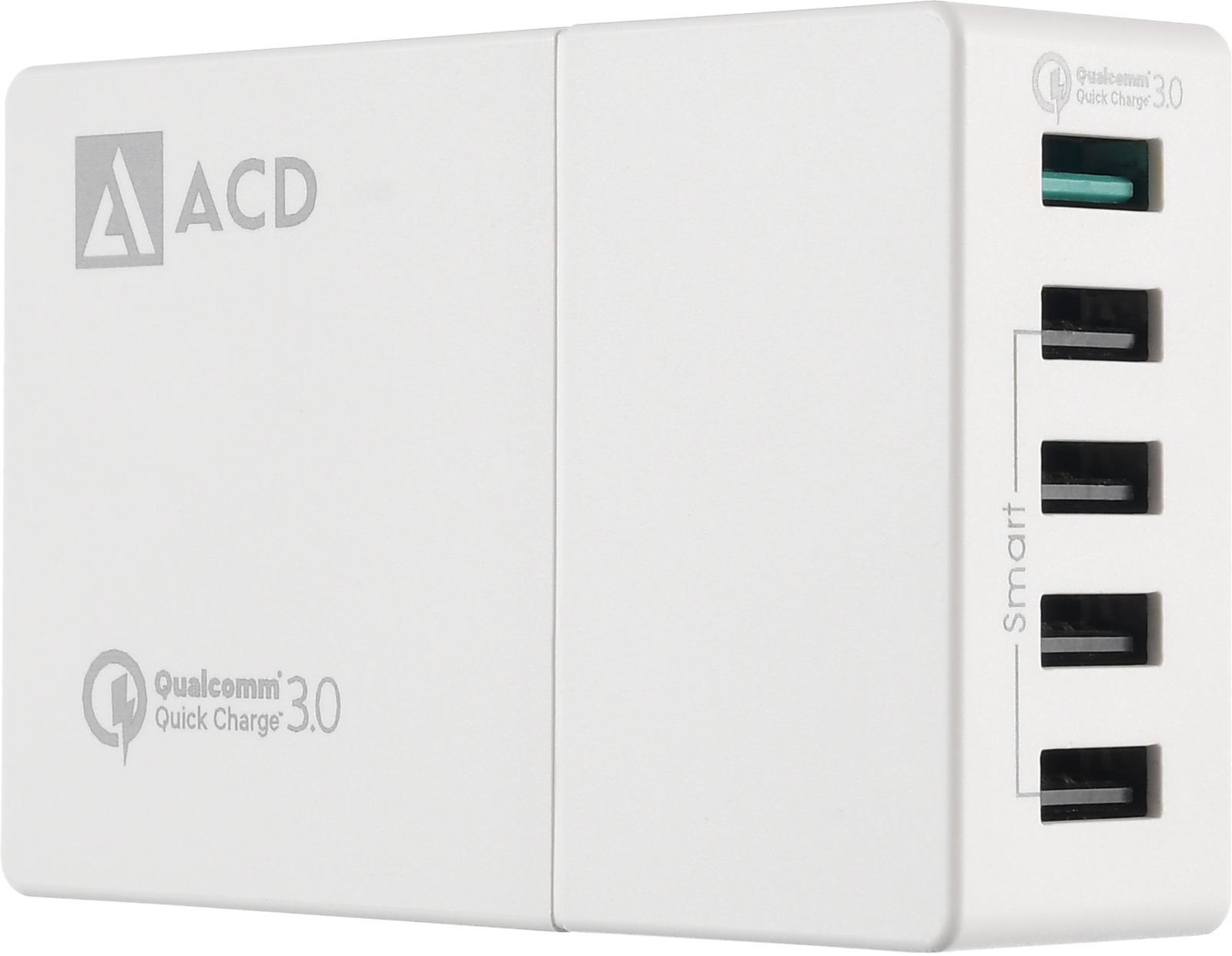 Сетевое зарядное устройство ACD, 52Вт, ACD-Q525-X3W аксессуар acd link usb c usb a 1m white acd u910 c2w