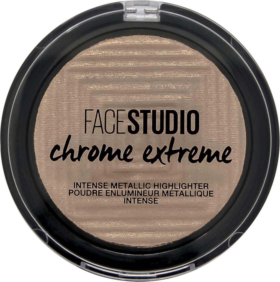 Хайлайтер Maybelline New York Face Studio Chrome Extreme, тон 300, Золотой песок, 6 мл