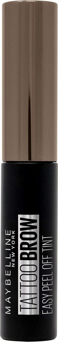 Стойкий гелевый тинт для бровей Maybelline New York Brow Tattoo, оттенок 25, Шоколадно-коричневый, 5 мл