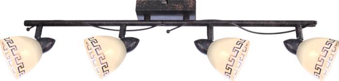 Настенно-потолочный светильник Globo New 5684-4, коричневый спот globo 5684 2