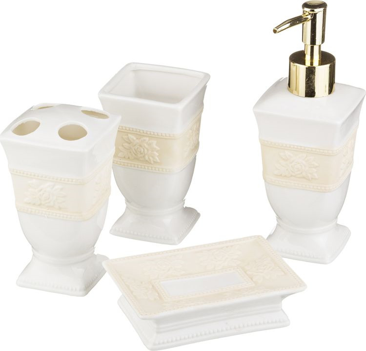 Набор для ванной комнаты Lefard, 437-009, 4 предмета
