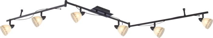 Настенно-потолочный светильник Globo New 5684-6, коричневый globo спот globo 56184 6