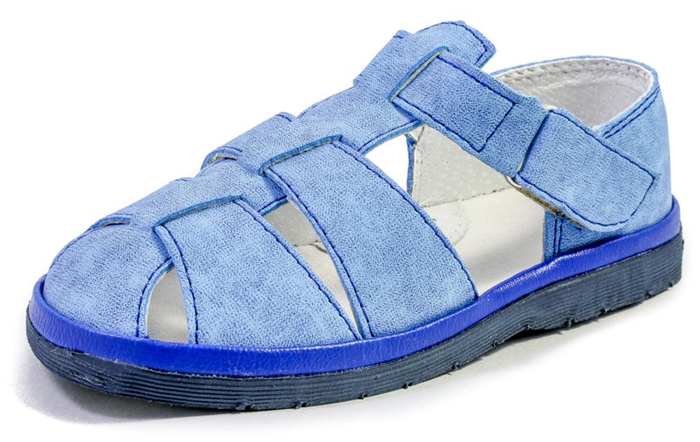 Сандалии для мальчика Римал, цвет: голубой. 22002. Размер 2622002