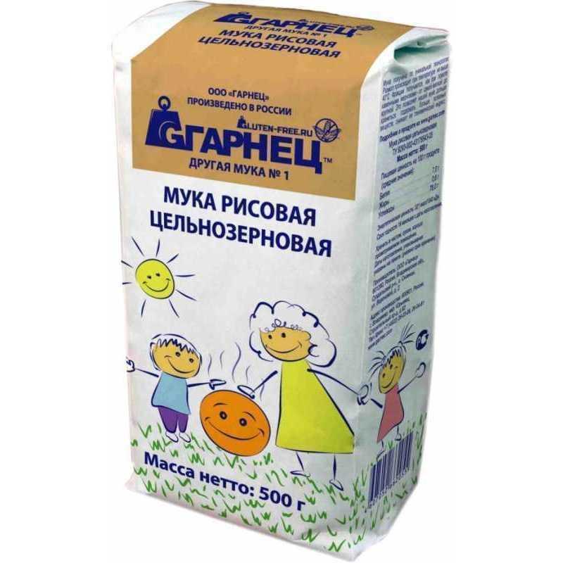 Рисовая мука ГАРНЕЦ 488141 гарнец соевая мука 500 г
