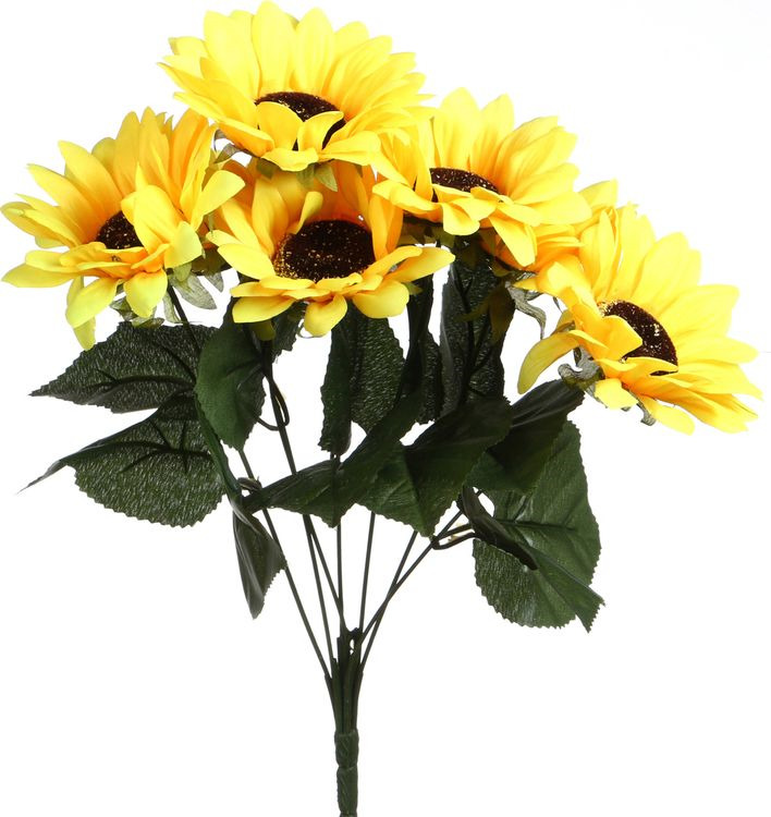 Искусственные цветы Lefard Подсолнух, 23-313, 10 х 10 х 42 см