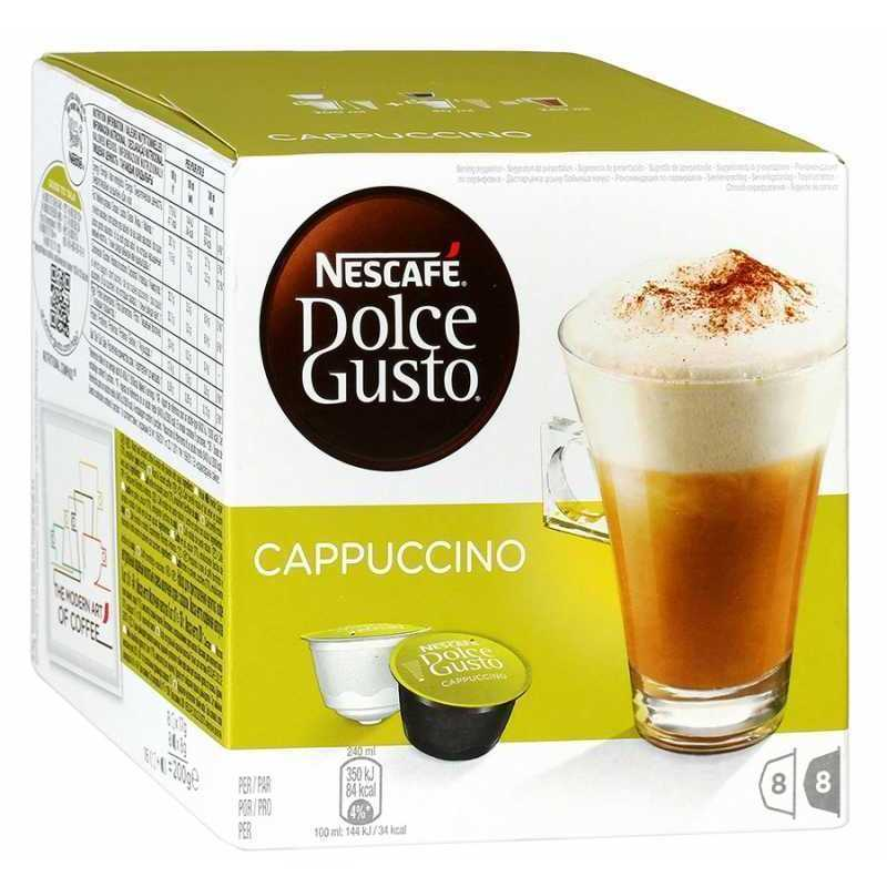 Кофе (капсулы) Nescafe Dolce Gusto Cappuccino, 8*17г+8*8г
