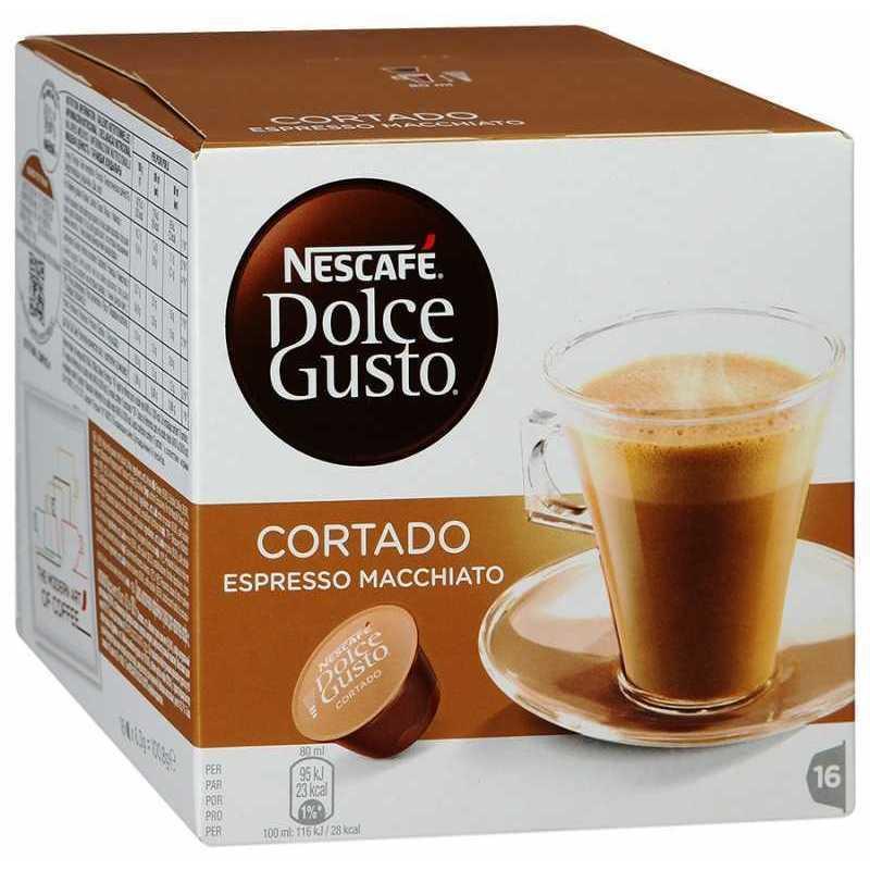 Кофе (капсулы) Nescafe Dolce Gusto Cortado Espresso Macchiato 16*6,3г (100,8г) капсулы nescafe dolce gusto cortado 16шт 12121894