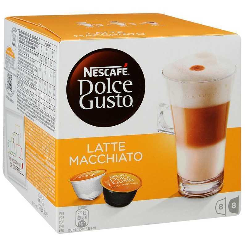 Кофе (капсулы) Nescafe Dolce Gusto Latte Macchiato, 8*17,8г+8*6,5г капсулы nescafe dolce gusto cortado 16шт 12121894
