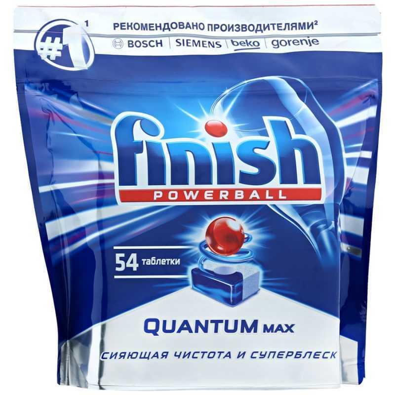 Таблетки для посудомоечной машины FINISH Powerball Quantum Max, 54шт таблетки д пмм finish quantum max лимон 54шт