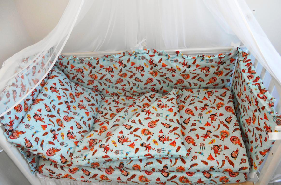 Комплект в кроватку Dream Royal Маленький индеец, голубой