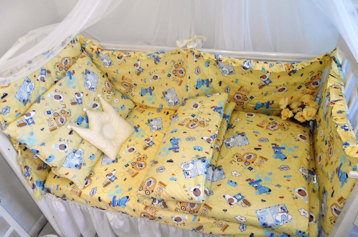 Комплект в кроватку Dream Royal Собачка-почтальон, желтый