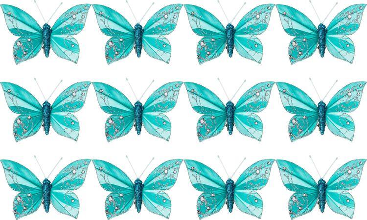 все цены на Комплект декоративных украшений Lefard Бабочки, 241-1901, 12 шт онлайн