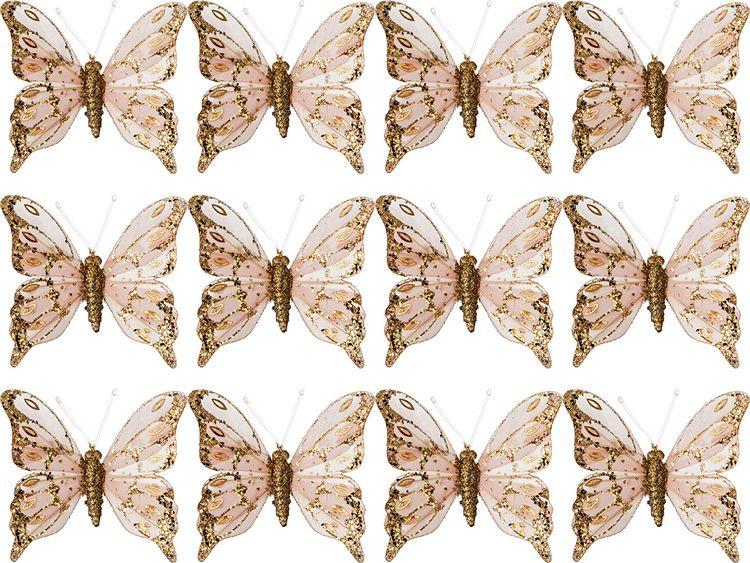 все цены на Комплект декоративных украшений Lefard Бабочки, 241-1904, 12 шт онлайн