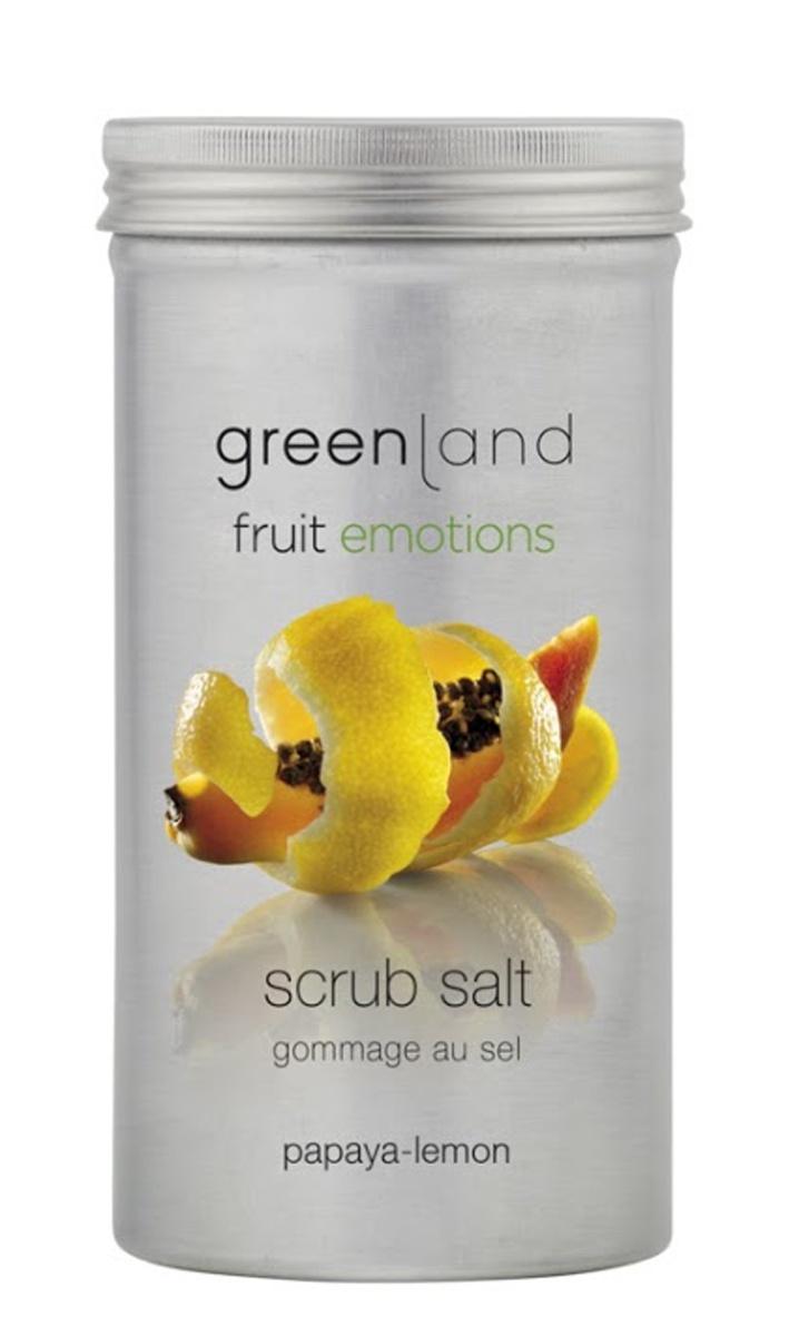 Скраб Greenland соляной, папайя-лимон, 400 г