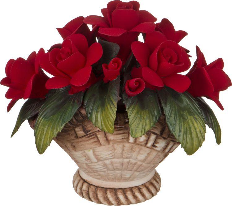 Искусственные цветы Lefard Корзинка с розами, 303-114, 14 х 11 х 12 см изделие декоративное корзинка d 16см h 29см упаковочный пакет