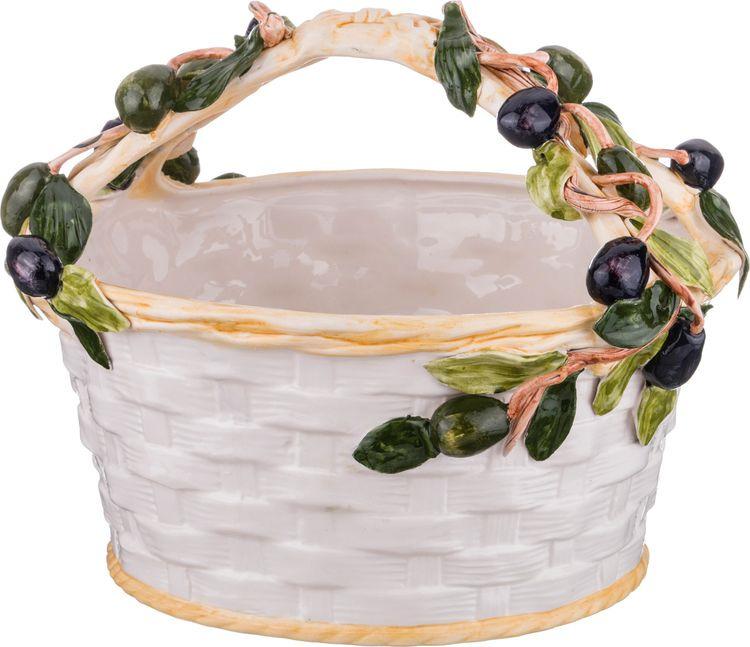 Декоративная чаша Lefard Корзина с оливками, 335-332, 30 х 30 х 24 см корзина 30 см sonne crystal