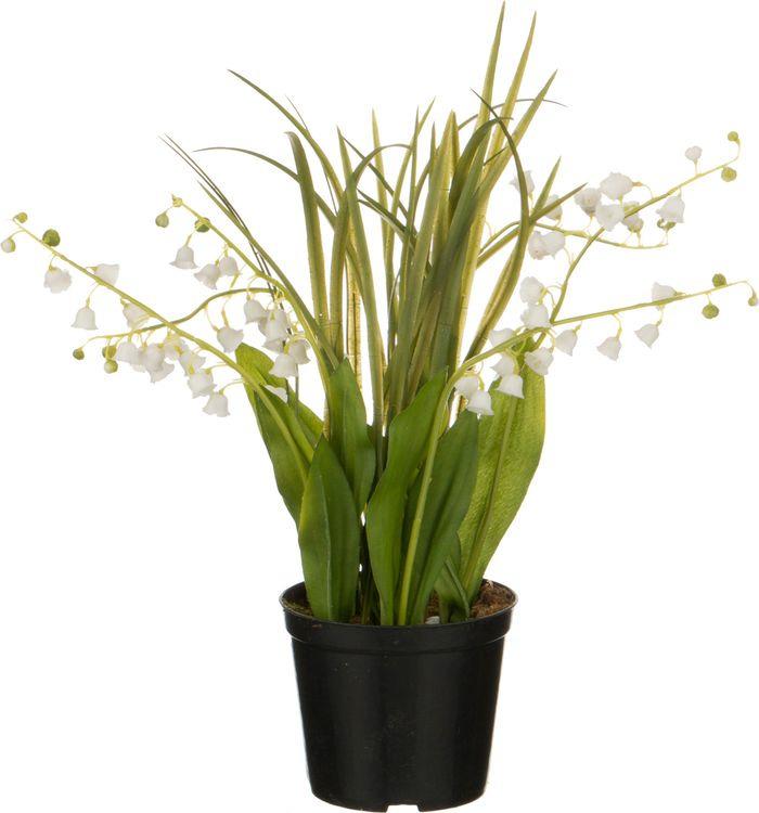 Искусственные цветы Lefard Ландыши в горшке, 654-192, 34 х 10 х 10 см плед paters ландыши 140х205 см