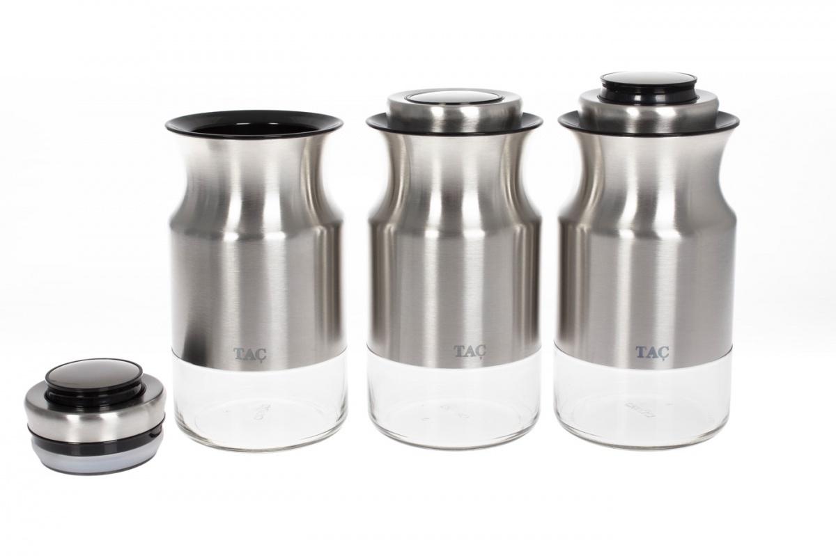 Набор емкостей TAC TK 0331, серый металлик