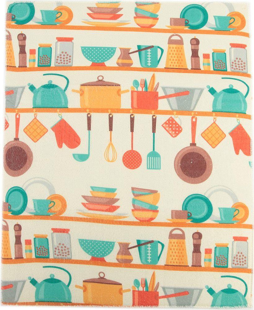 "Коврик для сушки посуды Доляна ""Кухня"", 3092751, 38 х 51 см"