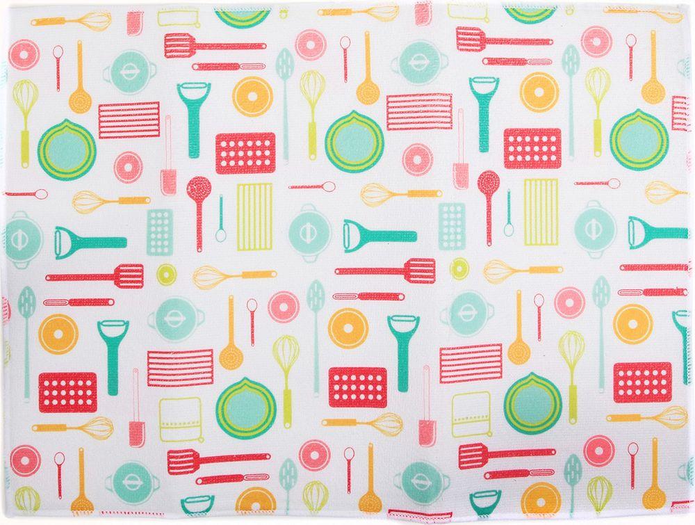 """Коврик для сушки посуды """"Кухня"""", 3596941, 38 х 51 см"""