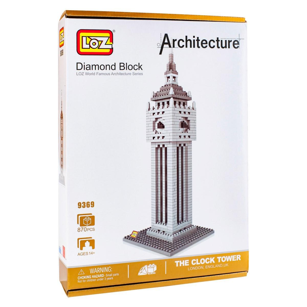 Конструктор LOZ. Серия: Архитектура. Башня Биг Бен архитектура