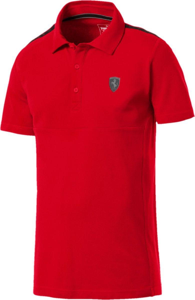 Поло мужское Puma Ferrari Polo, цвет: красный. 57785202. Размер L (50) пуховик мужской puma ferrari down jacket цвет черный 57667402 размер s 44 46