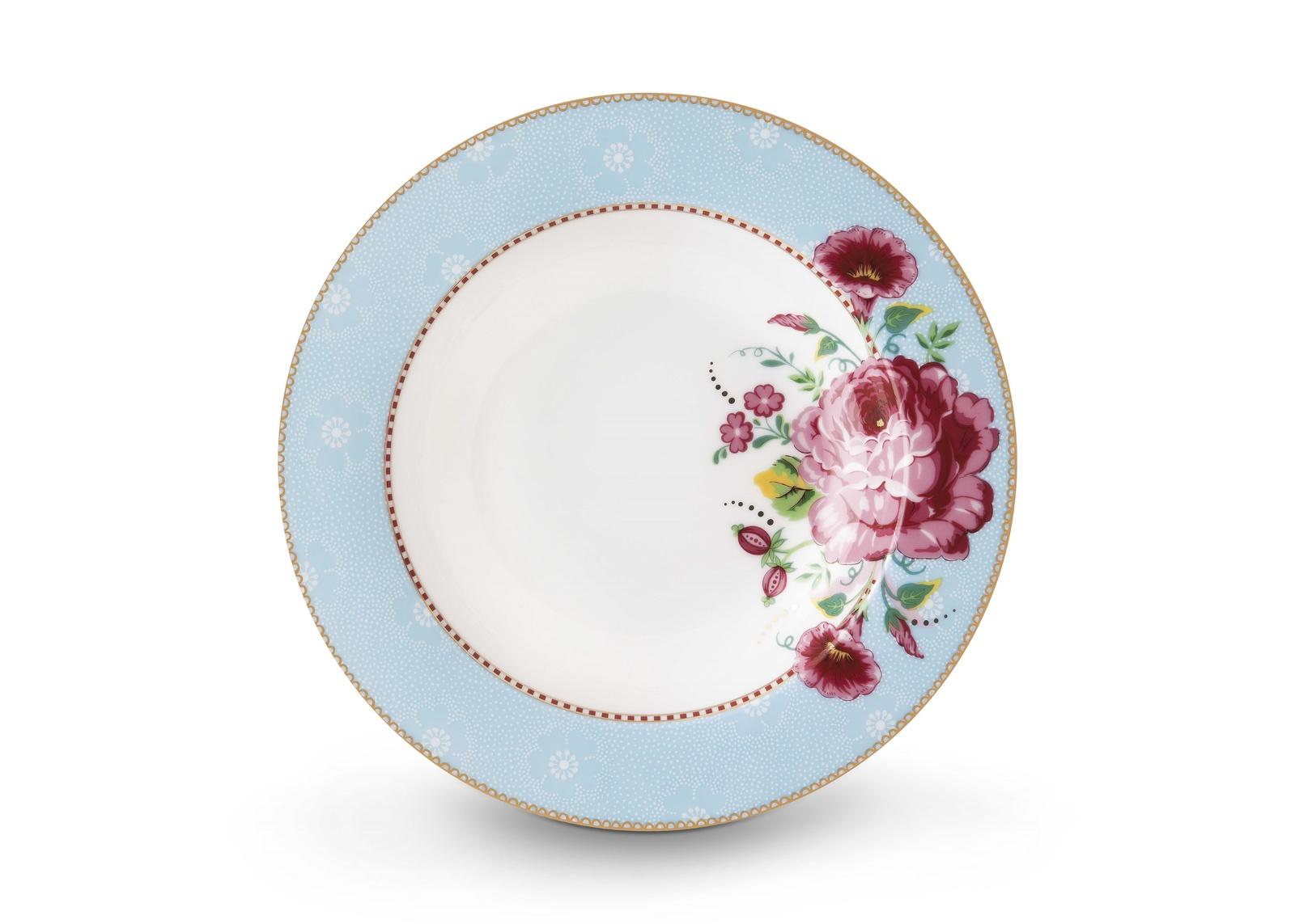 Набор из 2 глубоких тарелок Pip studio Rose Blue, 51.001.168, д. 21,5 см