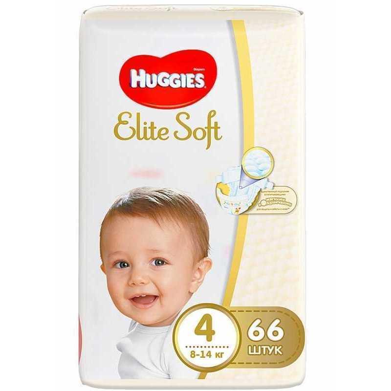 Подгузники HUGGIES Elite Soft 4 (8-14кг), 66шт, шт