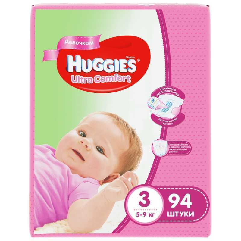 Подгузники-трусики HUGGIES 449332 huggies подгузники ultra comfort размер 3 5 9кг 80шт для девочек