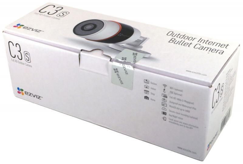 IPкамера Ezviz Наружная IP видеокамера C3S (Wi-Fi) CS-CV210-AO-52EFR(4ММ) Ezviz