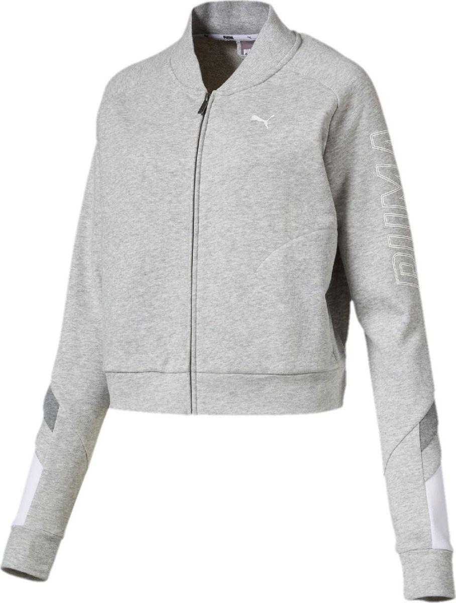 Толстовка PUMA Athletics Bomber Jacket rib faux leather zip up bomber jacket